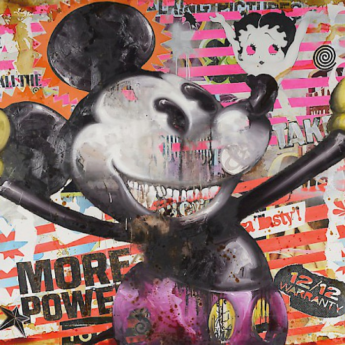 << Mouse Power >>, Jörg Döring, Oil on canvas, 150x200cm, 2015